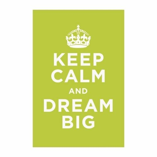 Cuadro Focu Deco Lienzo Canvas 20x30 Keep Calm - Dream Big