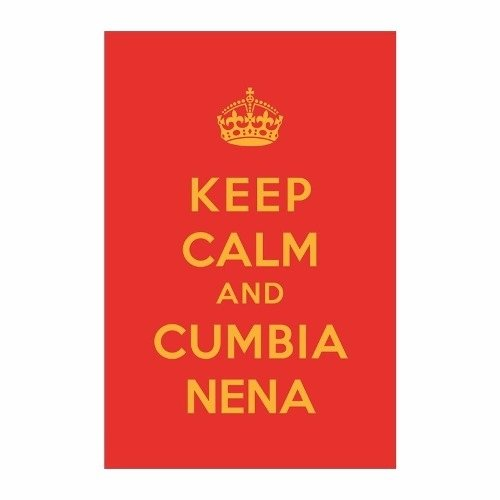 Cuadro Focu Deco Lienzo Canvas 20x30 Keep Calm Cumbia Nena