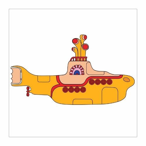 Cuadro Focu Deco Lienzo Canvas 20x20 Yellow Submarine