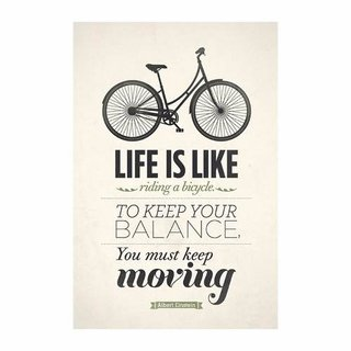 Cuadro Focu Deco Lienzo Canvas 20x30 Life Like A Bike