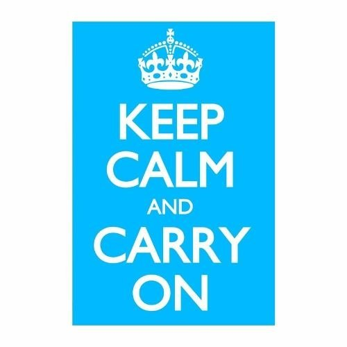 Cuadro Focu Deco En Lienzo Canvas 20x30 Keep Calm - Celeste