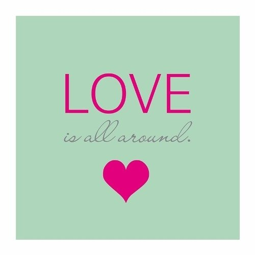 Cuadro Focu Deco Lienzo Canvas 20x20 Frase Love Around