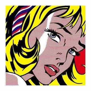 Cuadro Focu Deco Lienzo Canvas 20x20 Roy Lichtenstein - Girl