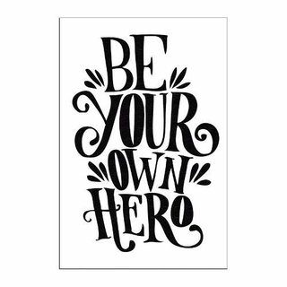 Cuadro Focu Deco Lienzo Canvas 20x30 - Be Your Own Hero