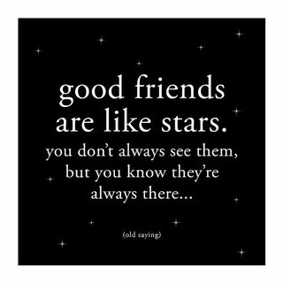 Cuadro Focu Deco Lienzo Canvas 20x20 Friends Are Like Stars