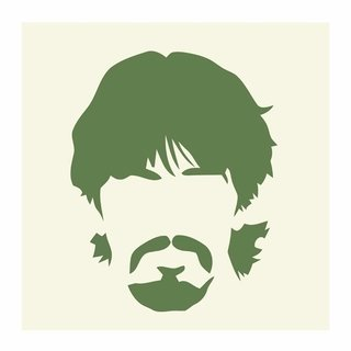 Cuadro Focu Deco Lienzo Canvas 20x20 Beatles Stencil George