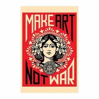 Cuadro Focu Deco Lienzo Canvas 20x30 Make Art Not War - Obey