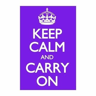 Cuadro Focu Deco En Lienzo Canvas 20x30 Keep Calm - Violeta