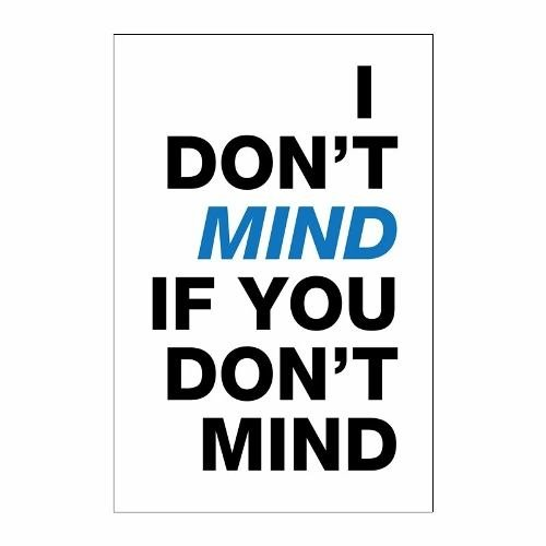 Cuadro Focu Deco Lienzo Canvas 20x30 I Don't Mind