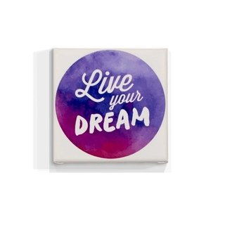 Cuadro Focu Deco Lienzo Canvas 20x20 Live Your Dream