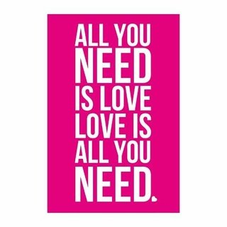 Cuadro Focu Deco En Lienzo Canvas 20x30 All You Need Is Love Rosa