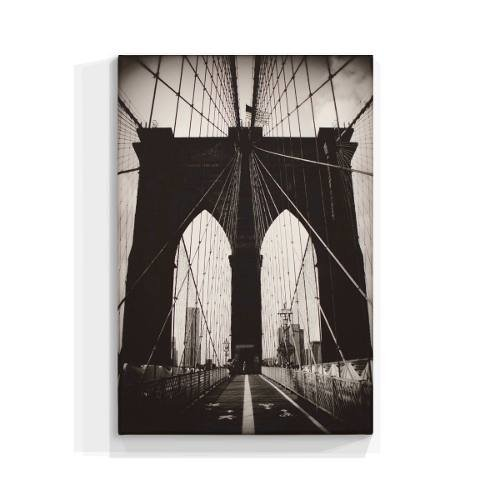 Cuadro Focu Deco En Lienzo Canvas 20x30 Brooklyn Bridge Byn