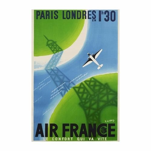 Cuadro Focu Deco En Lienzo Canvas 20x30 Air France Paris