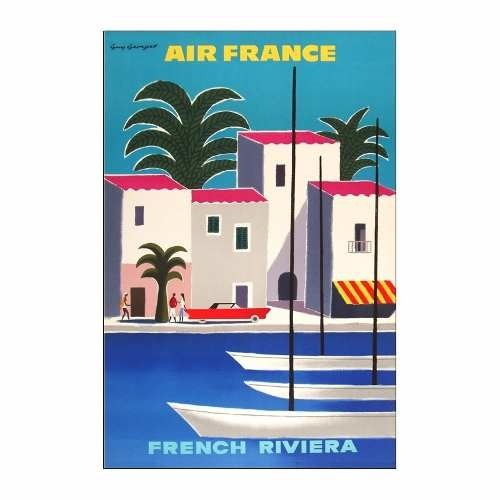 Cuadro Focu Deco En Lienzo Canvas 20x30 Air France French Rv