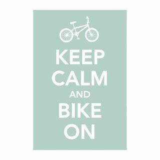 Cuadro Focu Deco Lienzo Canvas 20x30 Keep Calm - Bike On