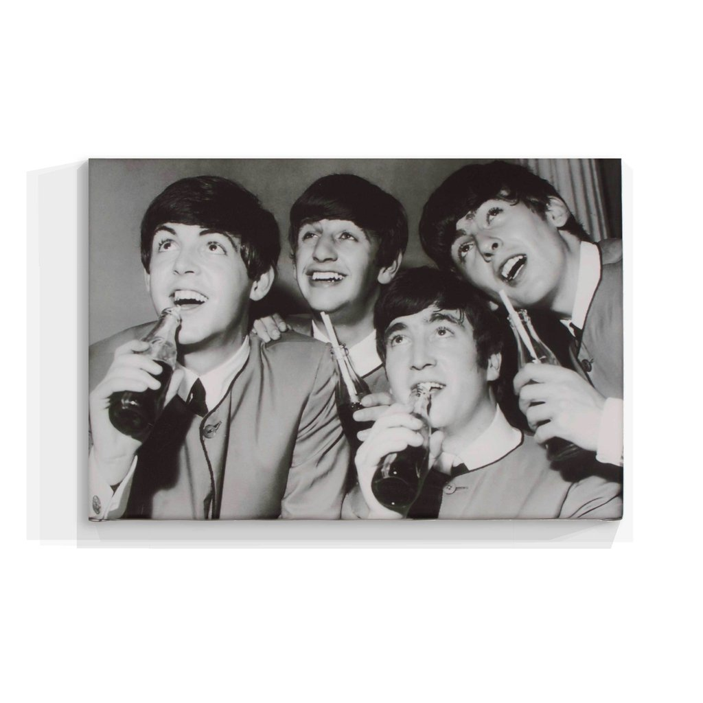 Cuadro Focu Deco En Lienzo Canvas 20x30 Beatles Botella Coca
