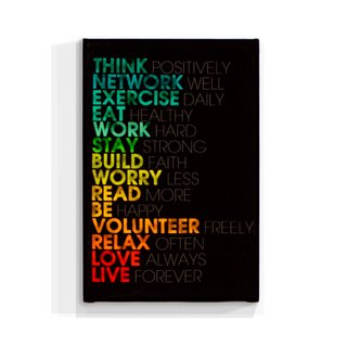 Cuadro Focu Deco Lienzo Canvas 20x30 Frases Think Positivelly