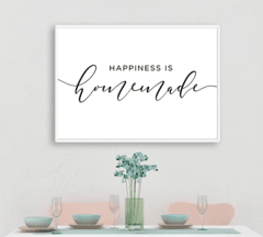 CUADRO HAPPINESS IS HOMEMADE - comprar online