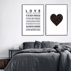 SET DE 2 CUADROS LOVE NEVER FAILS - comprar online