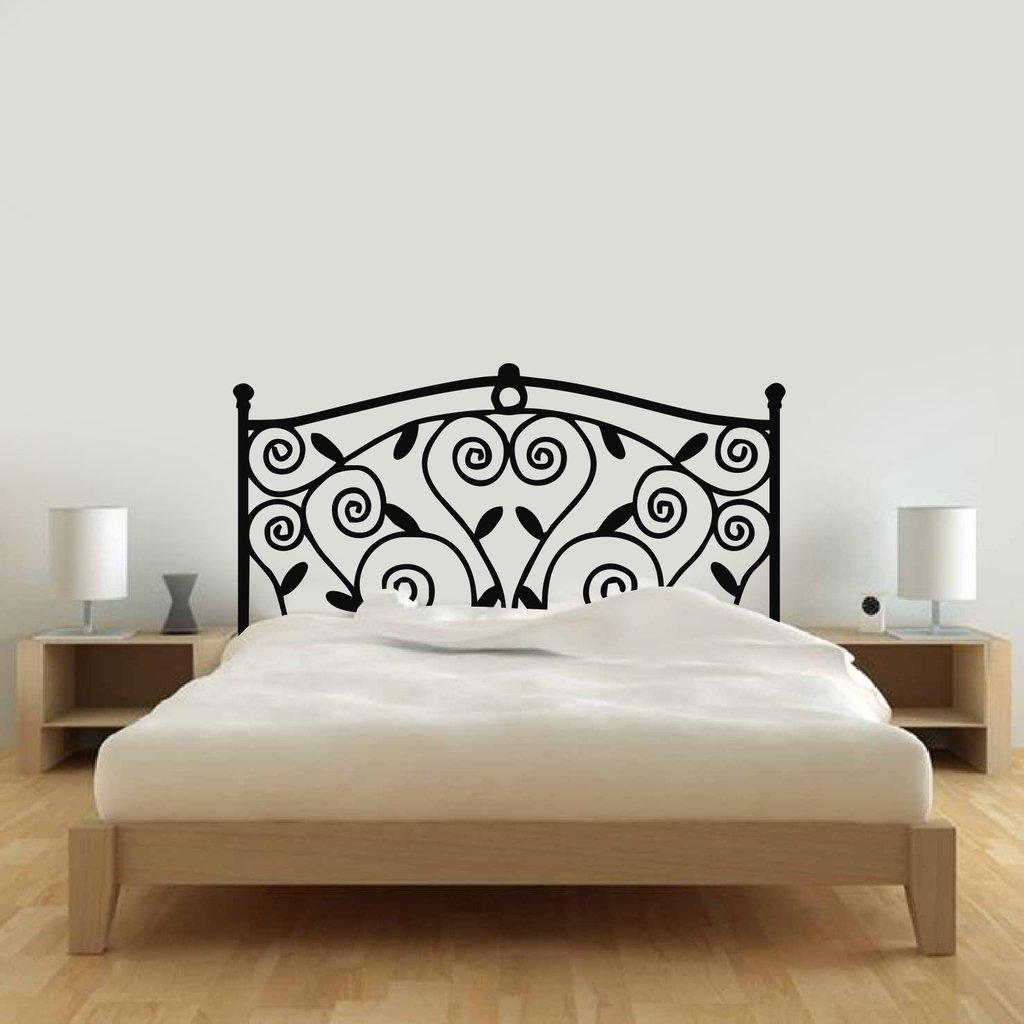 Vinilo decorativo respaldo cama hierro enredadera for Cama hierro