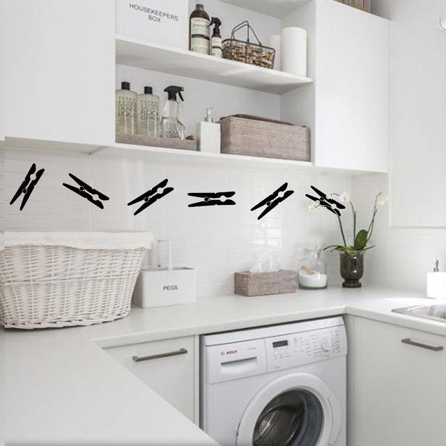 Vinilo decorativo iconos lavado lavadero lavarropas for Lavadero medidas