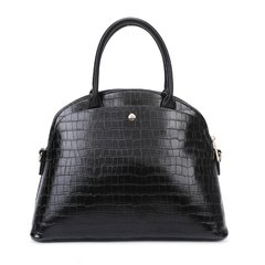 """SEMI GLOSSY CROCO BLACK"" PHI15042 - Nicole Lee"