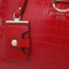 """SEMI GLOSSY CROCO RED"" PHI15042 - Nicole Lee"