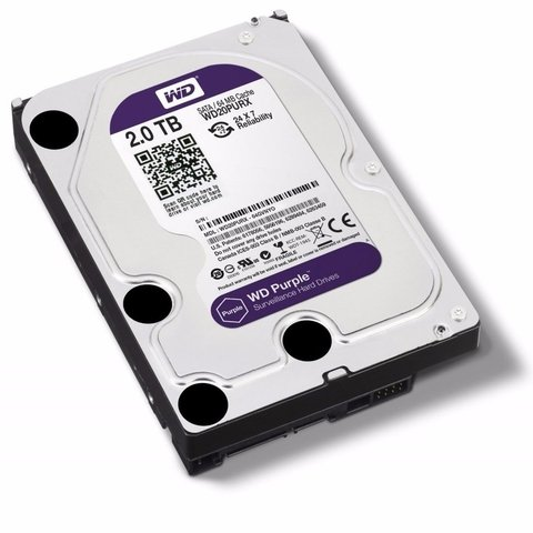 HD WD PURPLE 2TB SATA2 7200RPM - (ESPECÍFICO PARA DVR INTELBRAS)