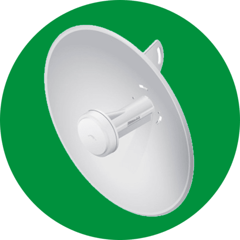 ANTENA WIRELESS UBIQUITI  POWERBEAM PBE-M5-300-BR 5GHZ 22DBI