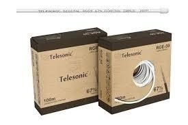 CABO COAXIAL 67% RG59 100M TELESONIC