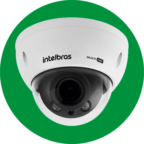 CAMERA IR INTELBRAS V 3230 DOME VARIFOCAL LENTE DE 2,7 A 12MM FULL HD 1080P COM IK10 G3