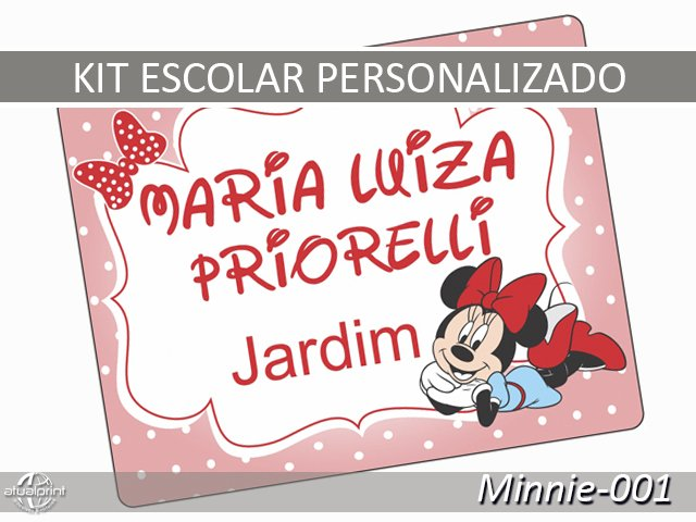 Etiqueta Escolar - Minnie-001