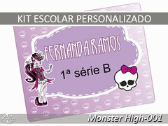 Etiqueta Escolar - Monster High-001