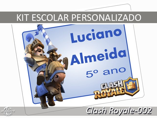 Etiqueta Escolar - Clash Royale-002