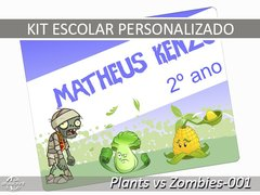 Etiqueta Escolar - Plants vs Zombies-001