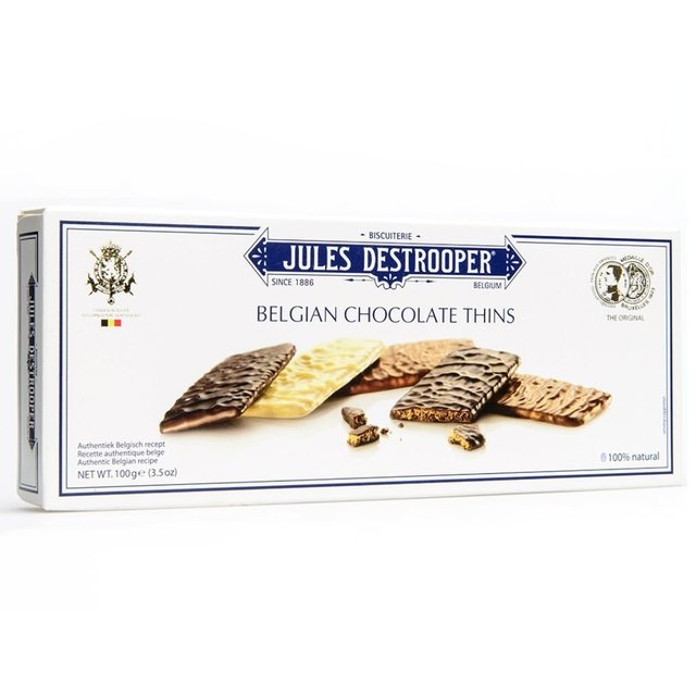 BELGIAN CHOCOLATE THINS 100 GRS