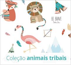 Coleção de enxoval de bebê florestinha com animais desenhados - kit berço divertido e criativo