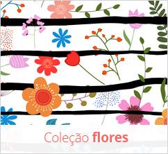 Kit berço com flores coloridas e alegres