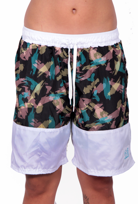 Other Culture Shorts Hip Brush Camo Branco