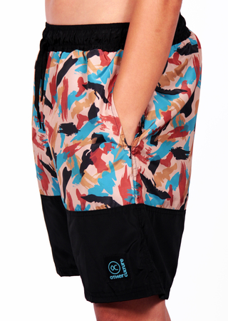 Other Culture Shorts Hip Brush Camo Preto - comprar online