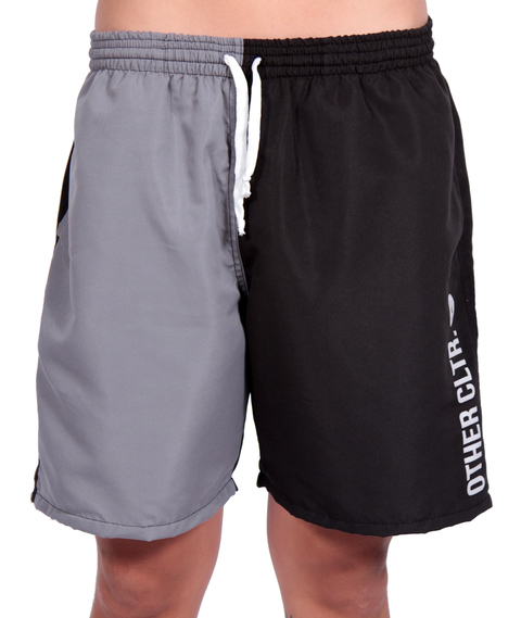 Other Culture - Shorts Sport Bicolor Preto