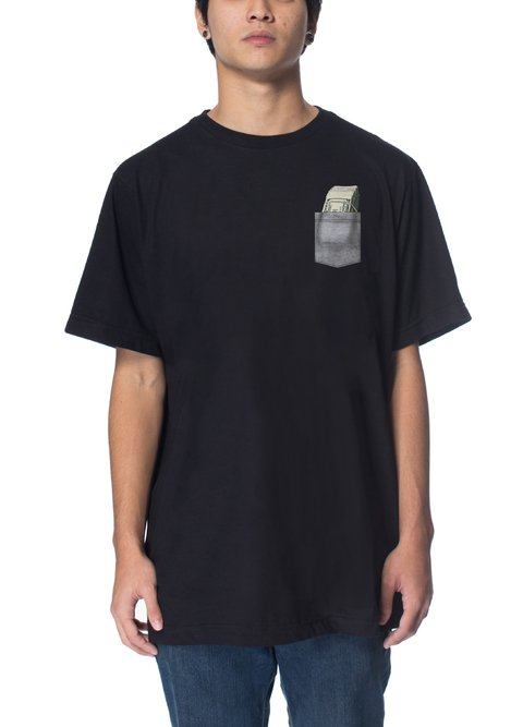 Other Culture Camiseta preta - Money Pocket Black