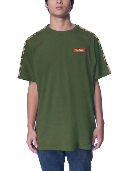 Other Culture Camiseta -  Signature Sleeve Camo Green