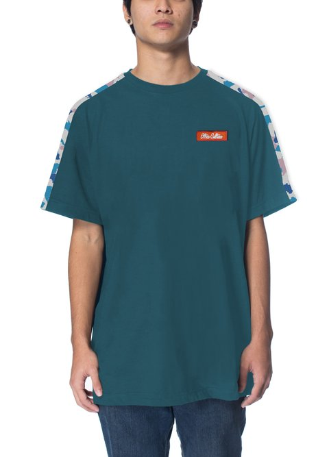 Other Culture Camiseta -  Signature Sleeve Camo Blue
