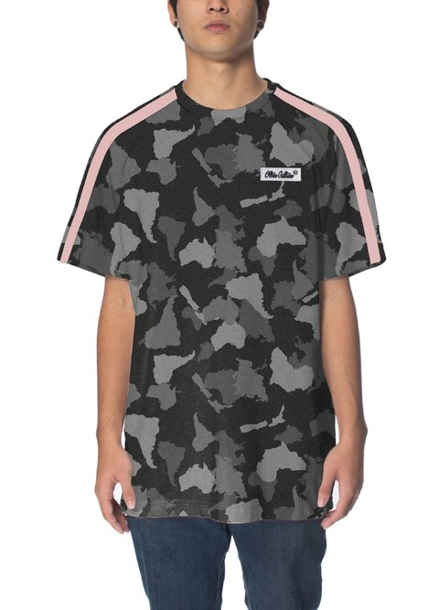 Other Culture Camiseta - Camo Logo Black