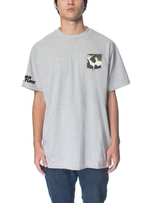 Camiseta Other Culture - Camo Pocket Grey