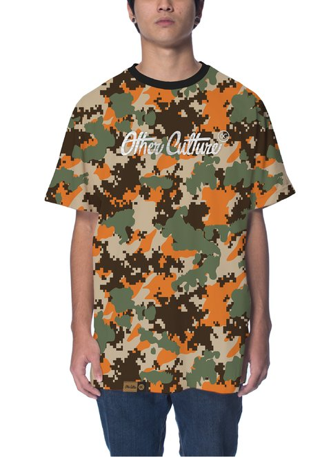 Other Culture Camiseta -  Camo Logo Orange
