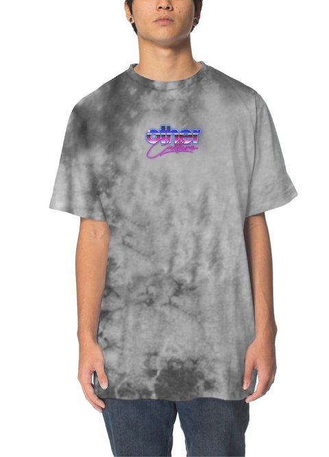 Other Culture Camiseta - 80's Washed Tie Dye Grey
