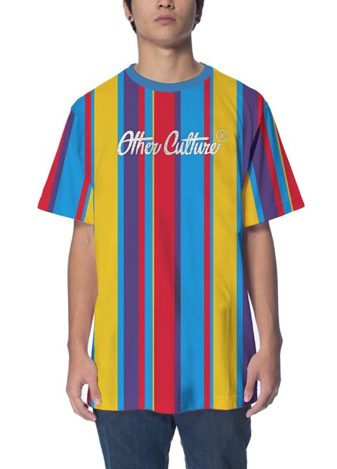 Other Culture Camiseta -  Striped Color Yellow