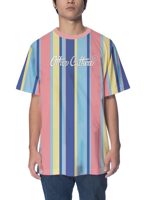 Other Culture Camiseta -  Striped Color Pink